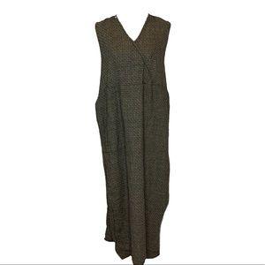 Flax Vintage 90s Lagenlook Linen Maxi Dress